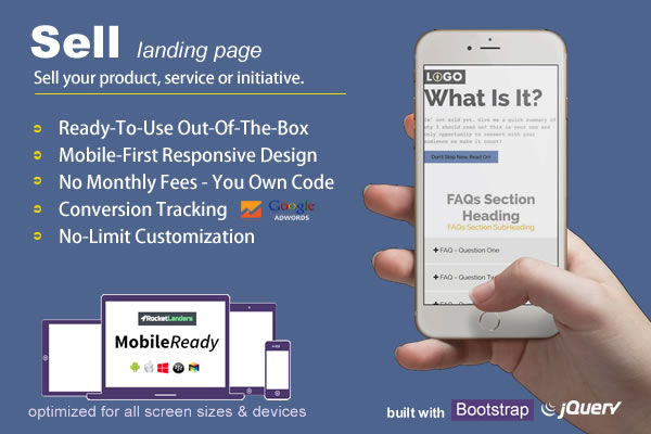 Buy landing page templates built using bootstrap